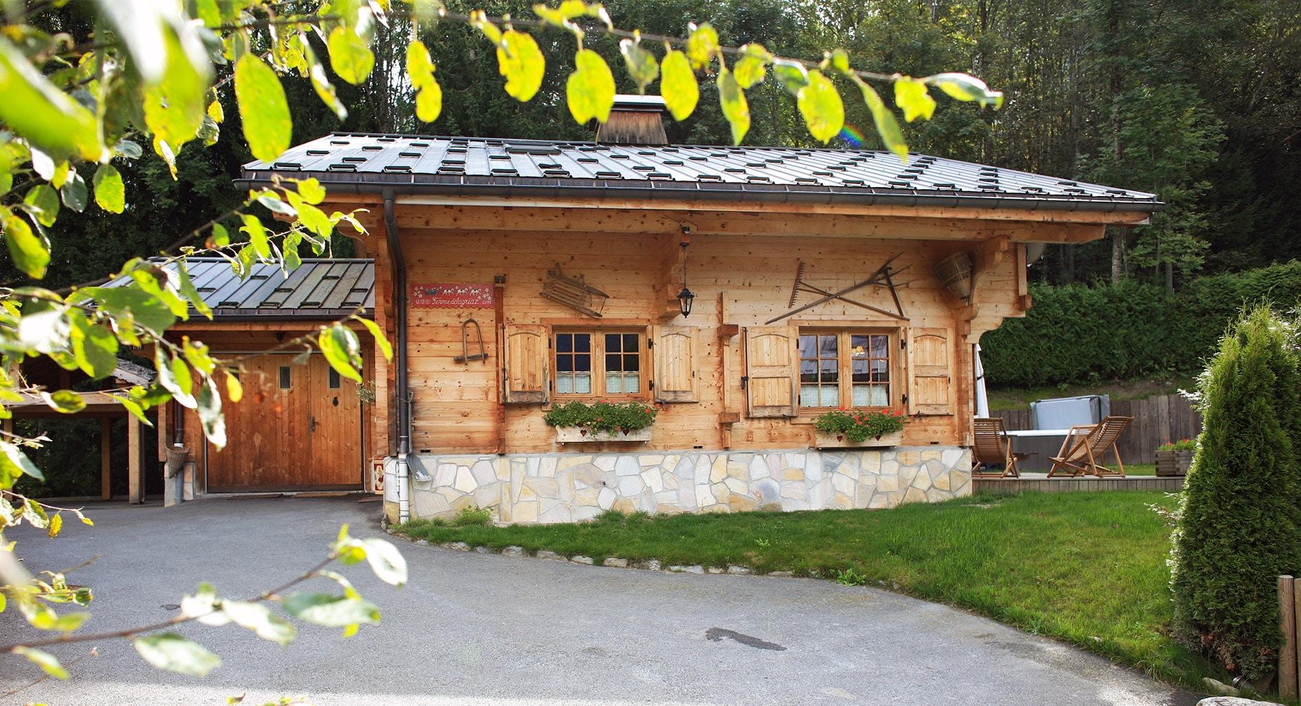 location d'un chalet de vacances à la montagne près de Chamonix
